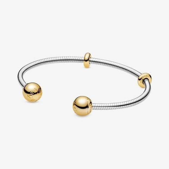 Bracelete Evolution Ponteira Dourada Prata 925 Est Pandora