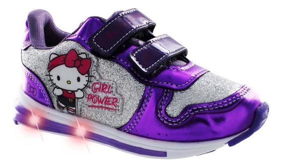 Tenis Air Morado Hello Kitty Con Luz Led
