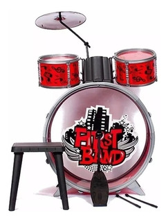 Bateria Musical P/niños First Band Color Azul O Roja