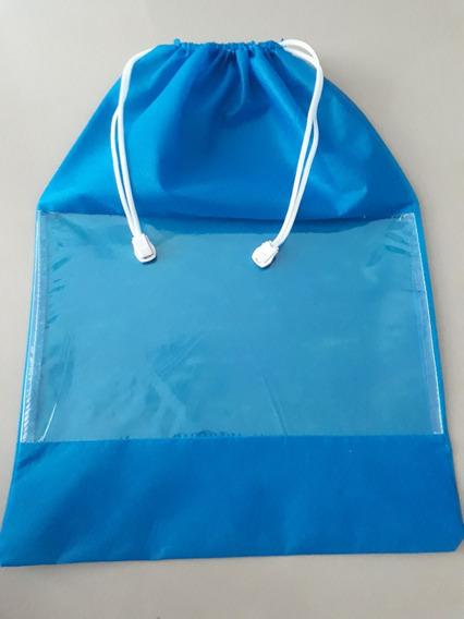 Kit Com 50 Sacos Organizadores De Calçados Azul Royal