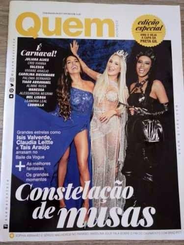 Revista Quem 856/2017 - Deborah Secco/isis/wanessa/anitta