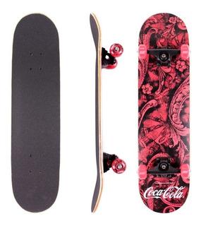 Skate Completo Profissional Coca Cola Maple Street Abec5