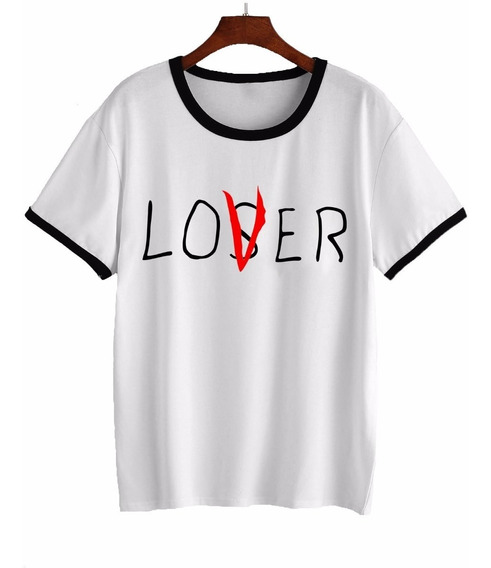 Remera It Pennywise Stephen King Loser Lover Mujer