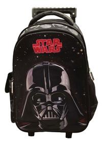 Mochila Rodinha Escolar Masculina Star Wars Dath Vader 33056