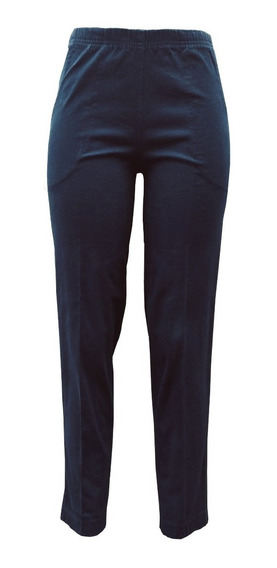 Pantalon De Mezclilla Con Resorte En Cintura Tallas Grandes