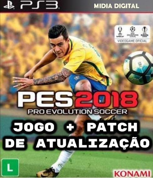 Pes 2018 Ps3 Midia Digital + Patch De Atualização Envio 2min