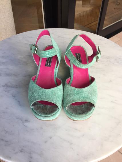 Zapatos De Gamuza Labrada, 38