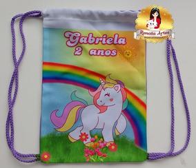 Unicornio Lembrancinha Personalizada 30 Mochilas..