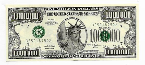 Usa Cédula Fantasia 1 Milhão De Dollares 2001 Fe