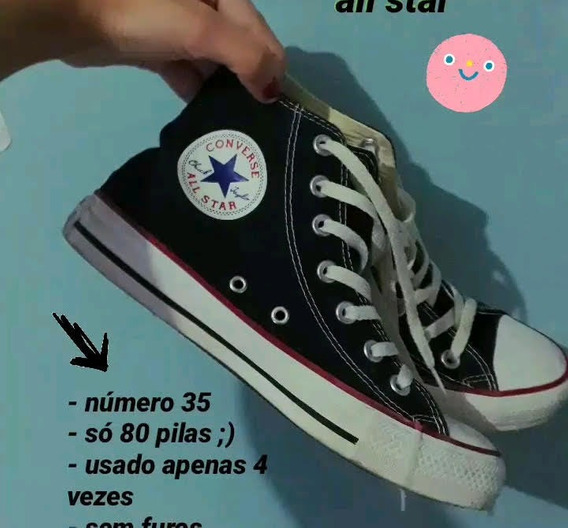 All Star Cano Medio Preto