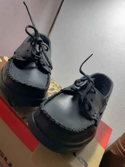 Zapatos Colegiales De Cuero 36.