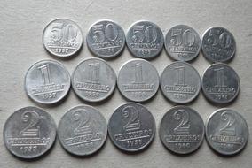 Aluminio- 50 Centavos, 1 E 2 Cruzeiros 1957,58,59,60 E 1961