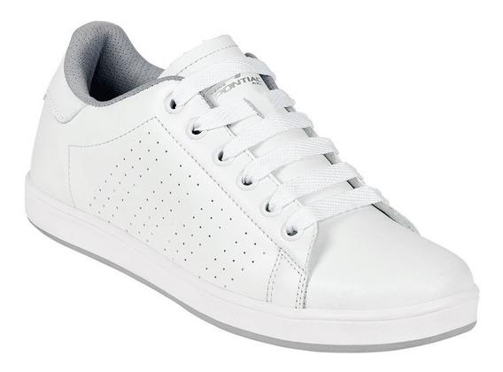 Calzado Tenis Niños Niñas Blancos Tipo Piel Escolar Concha