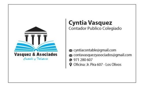 Imagen 1 de 5 de Estudio Contable -contador Público Colegiado Tel:971280607