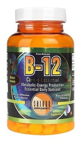 Vitamina B12 Saturn Apta Para Veganos 100 Comp.- Nut. Center
