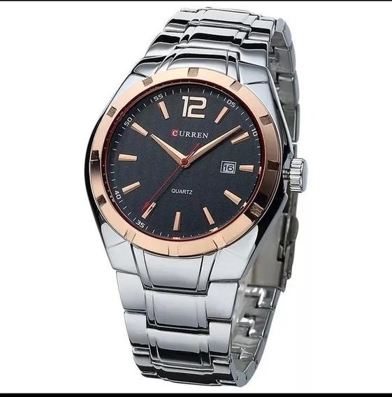 Relógio Masculino Curren Aço Original Pronta Entrega S.49