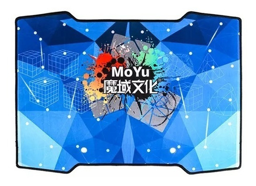 Imagem 1 de 4 de Tapete Pad Moyu Para Cubo Mágico Mat Azul Cronômetro Mat