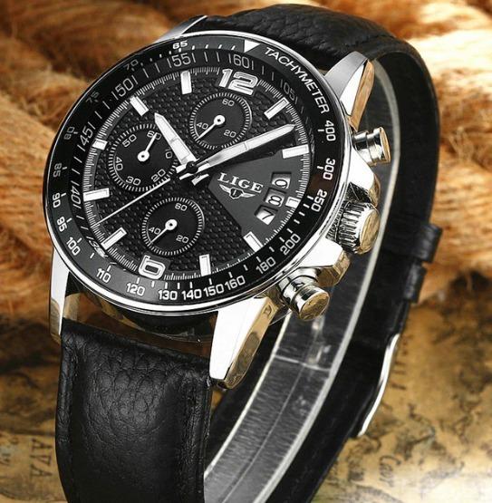 Relógio Masculino Original+cronógrafo+ Caixa Black Friday