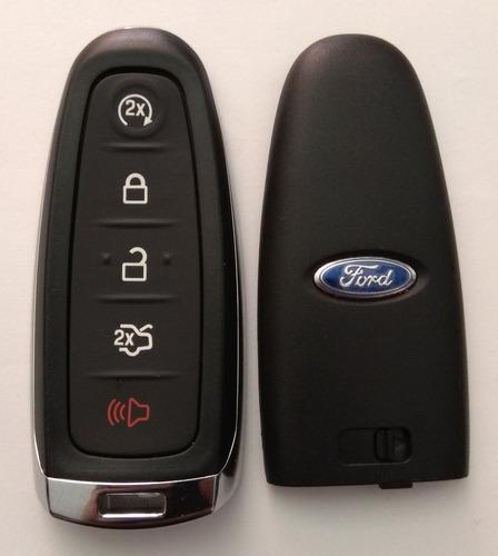Carcasa Llave Ford Edge Escape Titanium Logo + Protector