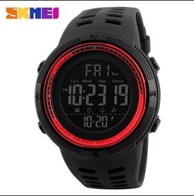 Relógio Digital Skmei Conquer Aprova Dágua 50mt-vermelho
