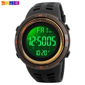 Relógio Digital Skmei Conquer Aprova Dágua 50mt-dourado