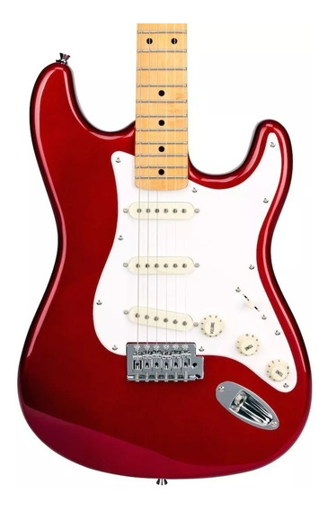 Guitarra Electrica Stratocaster Sx Fst57 Car Red + Funda