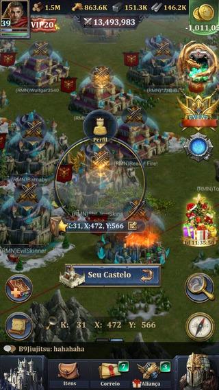 Vendo Um Castelo No Age Of King Muitos Herois Boms