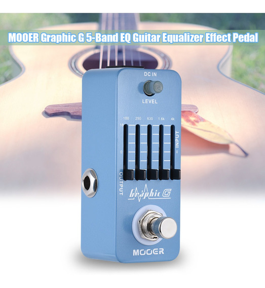 Mooer Graphic G Mini Guitarra Equalizer Effect Pedal 5-band