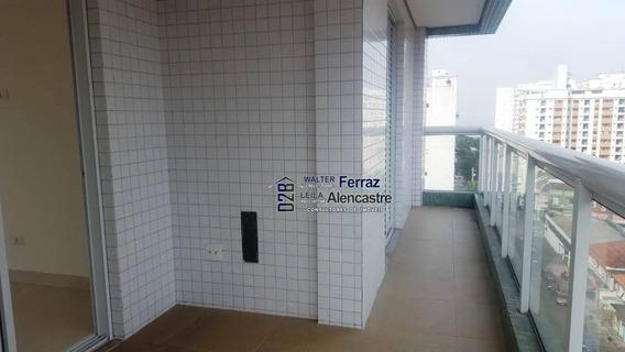 Apartamento Lazer Locação, 99 M² Por R$ 3.900,00/mês - Boqueirão - Santos - Sp - Ap0297