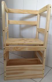 Torre De Aprendizagem Montessori 3 Em 1 - Pinus Natural