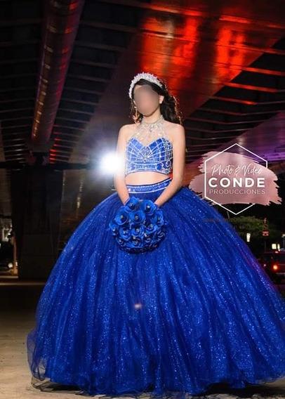 Vestido De Xv Años, Azul Rey