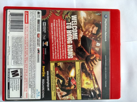 Sleeping Dogs Ps3 Playstation Sony Fisica