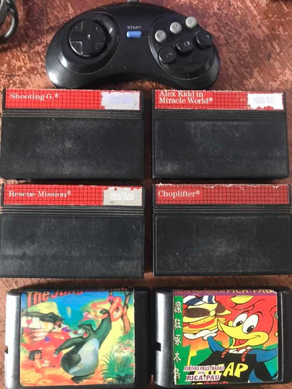 Fitas De Master System E Mega Drive