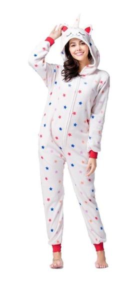 Mameluco Pijama Unicornio Crema Estrellas Adulto Envío Grati