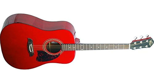 Oscar Schmidt Og2trau Guitarra Acustica Trans Rojo