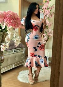 Vestido Fiesta Flores Dama Rosa. Offshoulder Envío Gratis003