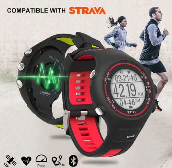 Relógio Ezon T907 /gps-bluetooth-sensor Philips/strava