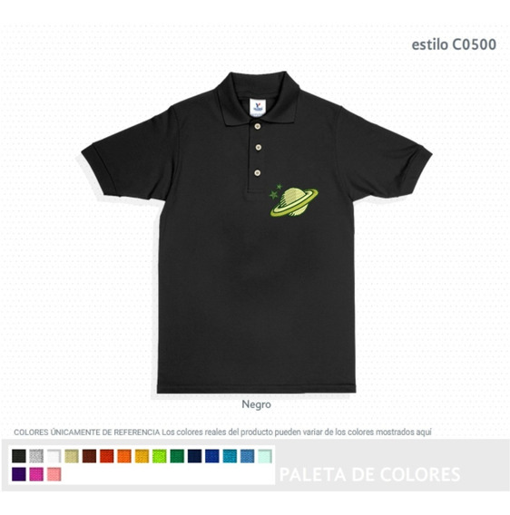 Playera Polo Yazbek Pique Color Para Bordado 100% Algodon