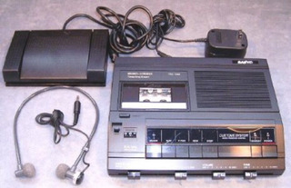 Sanyo Cvr 5020memoscriber Microcassette W/transcriptor I