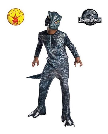Traje Velociraptor Azul Dinosaurio Jurassic World Disfraz