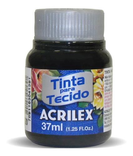 Tinta Para Tecido 37ml Preto Acrilex