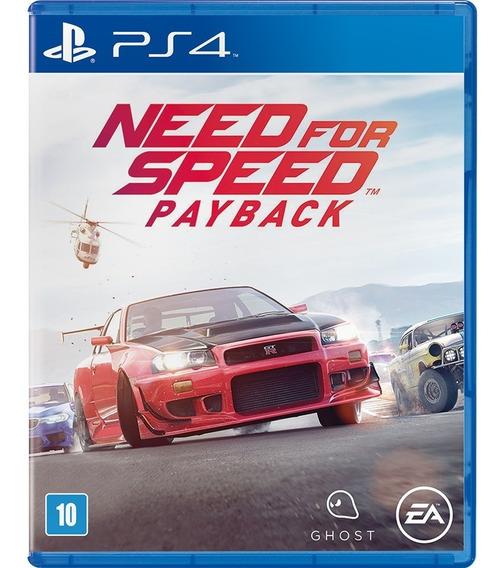 Need For Speed Payback Ps4 Jogo Midia Física Playstation 4
