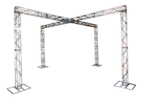 Imagem 1 de 9 de Treliças Kit Trave Box Truss Dj Q20 Aço 3x6m Em X - Lourenço
