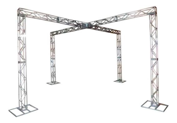 Treliças Kit Trave Box Truss Dj Q20 Aço 3x6m Em X - Lourenço