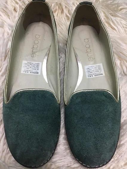 Zapatos Con Plataforma - Blaque Talle 38 Y 40 - Verde