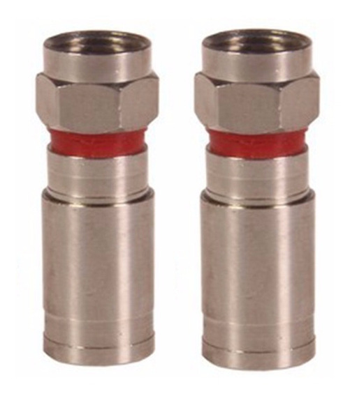 Conector De Compressão Rg6 Blindado - 20 Unidades