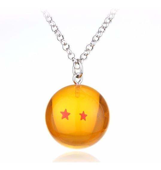 Colar Cordão Dragon Ball Z Goku Esfera Do Dragão 2 Estrelas