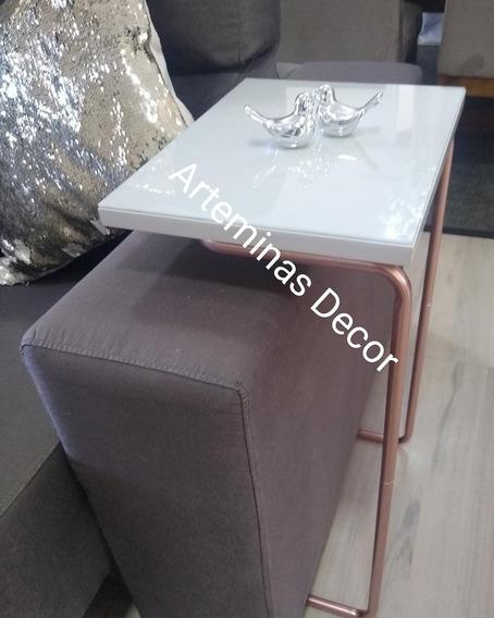 Mesinha Lateral De Apoio Para Sofa Pe Rose Gold