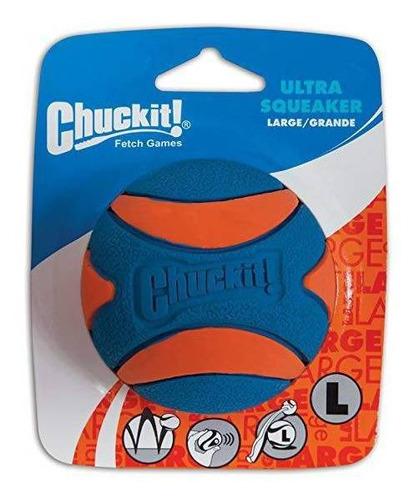 Imagem 1 de 6 de Brinquedo De Cachorro Bola Ultra Squeaker Apito G Chuckit