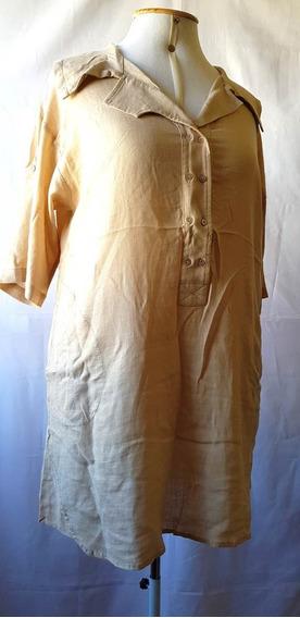 Vestido Elements Original Em Linho, Bolsos Laterais Tam. M